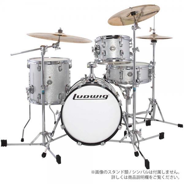 LUDWIG ( ラディック ) LC179X 028  WHITE SPARKLE【ブレイクビーツ 小口径 ドラムセット】