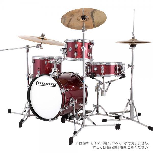 LUDWIG ( ラディック ) LC179X 025 BREAK BEATS WINE RED SPARKLE【ブレイクビーツ 小口径 ドラムセット】