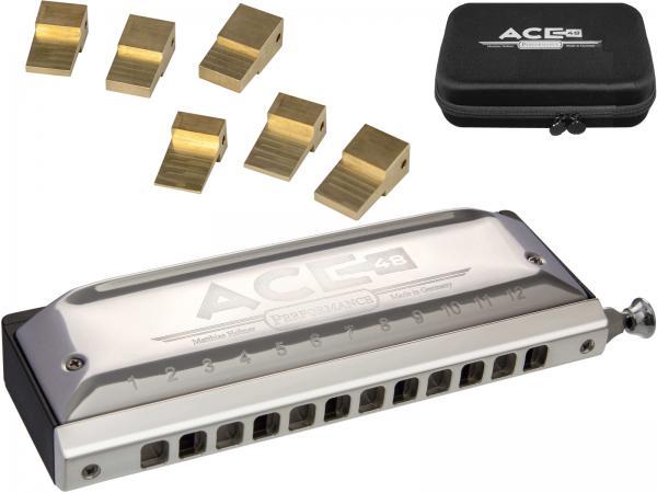 HOHNER ( ホーナー ) ACE 48 クロマチックハーモニカ アウトレット 7548/48 12穴 ブロック調整 スライド式 ハーモニカ 3オクターブ C調 樹脂ボディ エース48 リード 楽器