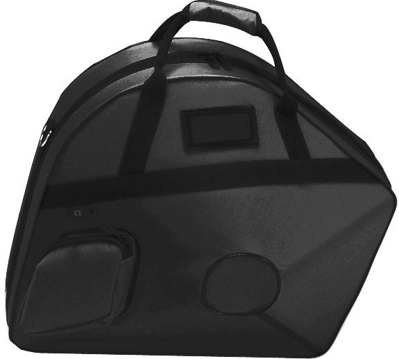 GALAX ( ギャラックス ) ブラック ホルン ウルトラケース フレンチホルン用 リュックタイプ ベルカット セミハードケース ホルンケース デタッチャブル ケース 黒色