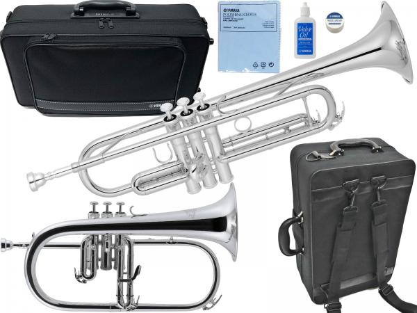 YAMAHA ( ヤマハ ) YTR-4335GS2 トランペット 銀メッキ ゴールドブラス YTR-4335GSII trumpet Jマイケル FG-550S フリューゲルホルン セット 北海道 沖縄 離島不可