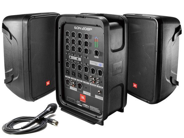 JBL ( ジェイビーエル ) EON208P 【在庫有ります!】◆ 8インチスピーカー150W×2台と8chミキサーの ポータブルPAセット