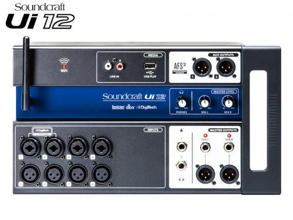 SOUND CRAFT ( サウンドクラフト ) Ui12 ◆ リモートコントロール・デジタル・ミキサー