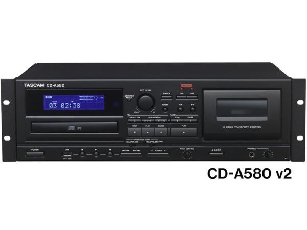 TASCAM ( タスカム ) CD-A580 ◆ 業務用カセットレコーダー/CDプレーヤー/USBメモリーレコーダー