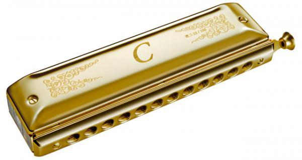 HOHNER ( ホーナー ) ホーナーC 箱なし キズあり アウトレット 100周年 クロマチックハーモニカ HOHNER-C 透明ボディ ゴールド 金メッキ 12穴 北海道 沖縄 離島不可