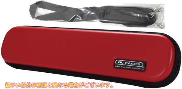 GL CASES ( GLケース ) GLE-FL 03 フルートケース レッド ショルダータイプ 落とし込み式 軽量 C足部管 フルート ハードケース 管楽器 収納 flute case red