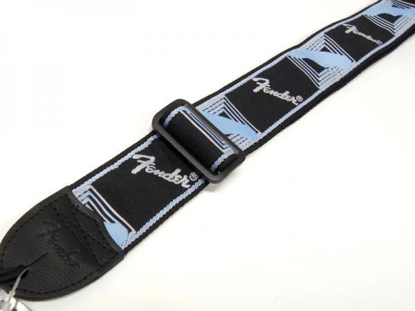 Fender ( フェンダー ) Monogrammed  Strap(Black/Lt Gray/Med Blue)  【在庫限りモノグラム  ギター ・ベース ストラップ 】