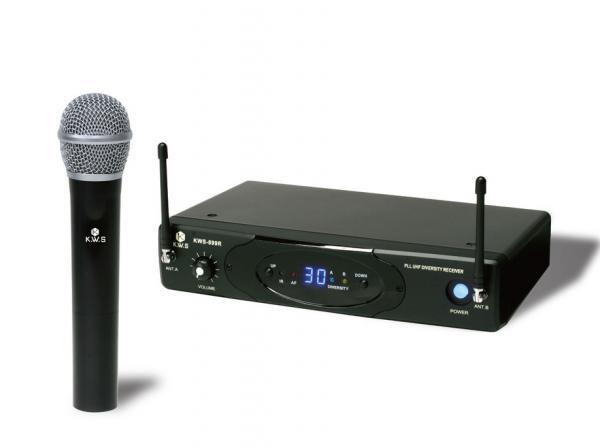 K.W.S ( by キクタニミュージック ) KWS-899H/H ◆ ハンドヘルドワイヤレスマイクシステム for カラオケ ボーカル プレゼンテーション 講義 司会