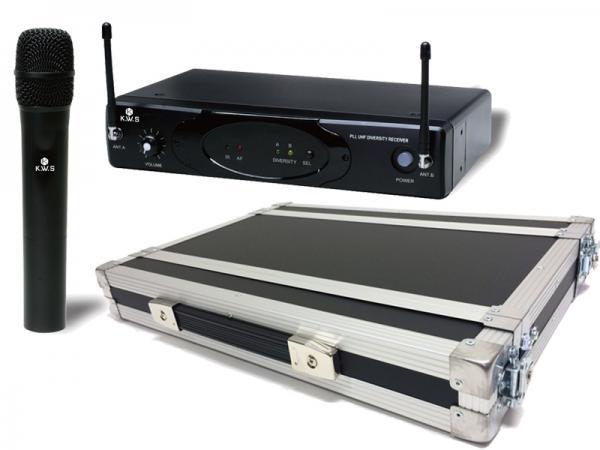 K.W.S ( by キクタニミュージック ) KWS-899H/H + H1Uラックケースセット  (PULSE) ◆ ハンドヘルドワイヤレスマイクシステム の安全な持ち出しと簡単設置に!