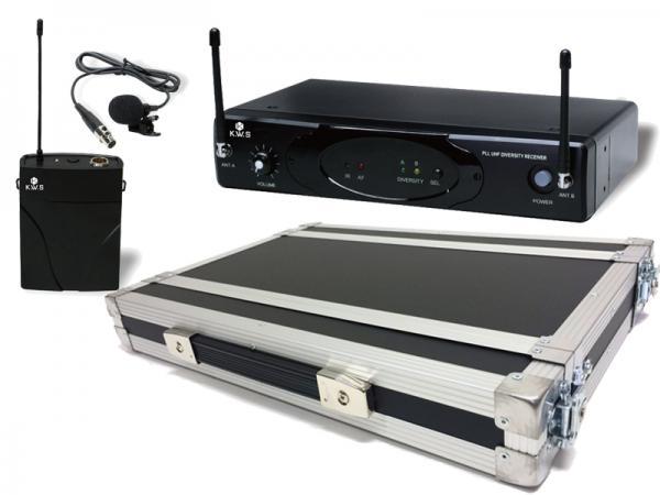 K.W.S ( by キクタニミュージック ) KWS-899P/LM-60 + H1Uラックケースセット (PULSE) ◆ ピンマイク(ラベリア)ワイヤレスマイクシステム の安全な持ち出しと簡単設置に!