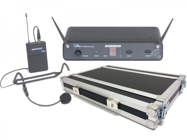 SAMSON ( サムソン ) ESWC88BHS5J-B + H1Uラックケースセット (PULSE) ◆ ヘッドセット型 ワイヤレスマイクシステム の安全な持ち出しと簡単設置に!