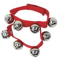 レッド D-RB01 RD 腕輪 リングベル リストバンド 2個 セット リストリングベル パーカッション 赤色 RED 手首 足首 振る 楽器