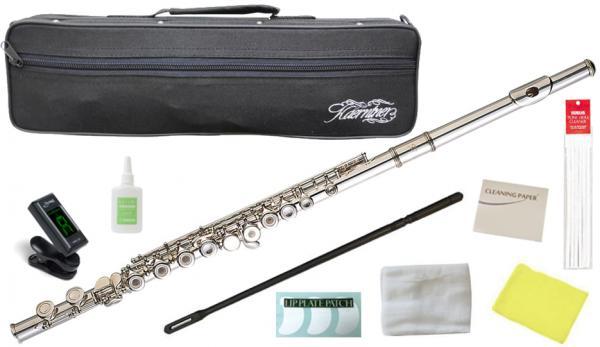 Kaerntner ( ケルントナー ) KFL29 リングキイ フルート 新品 銀メッキ Eメカニズム 管楽器 C管 本体 楽器 KFL-29 Open Hole flute セット A 沖縄 離島不可