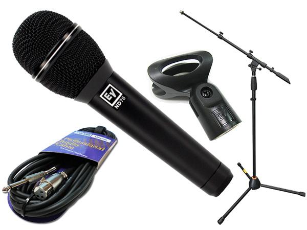 Electro-Voice ( EV エレクトロボイス ) ND76 マイクスタンド JMS-Pセット ◆ マイク ブーム ストレート両対応MIC STAND マイクケーブル5M