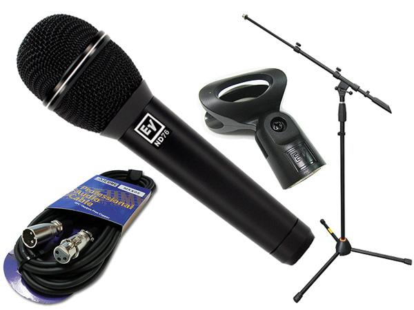 Electro-Voice ( EV エレクトロボイス ) ND76 マイクスタンド JMS-Xセット ◆ マイク ブーム ストレート両対応MIC STAND マイクケーブル5M