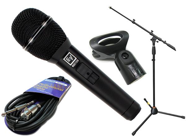 Electro-Voice ( EV エレクトロボイス ) ND76S マイクスタンド JMS-Pセット ◆ マイク ブーム ストレート両対応MIC STAND マイクケーブル5M