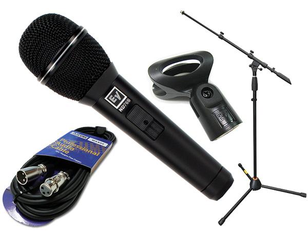 Electro-Voice ( EV エレクトロボイス ) ND76S マイクスタンド JMS-Xセット ◆ マイク ブーム ストレート両対応MIC STAND マイクケーブル5M