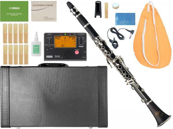 MAXTONE ( マックストーン ) CL-40 クラリネット 新品 管体 ABS樹脂 プラスチック管 初心者 B♭ 管楽器 本体 マウスピース ケース 楽器 clarinet 【 CL40 セット A】
