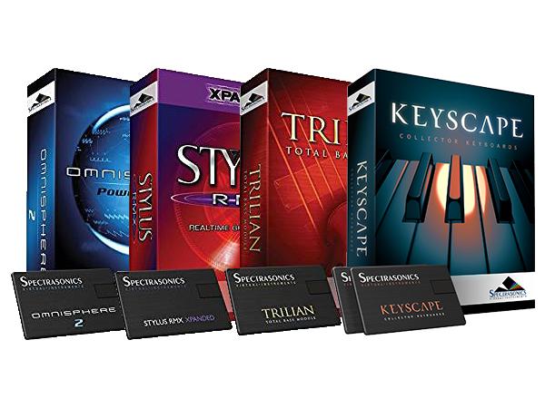 Spectrasonics Stylus RMX Xpanded × Trilian × Omnisphere 2 × Keyscape