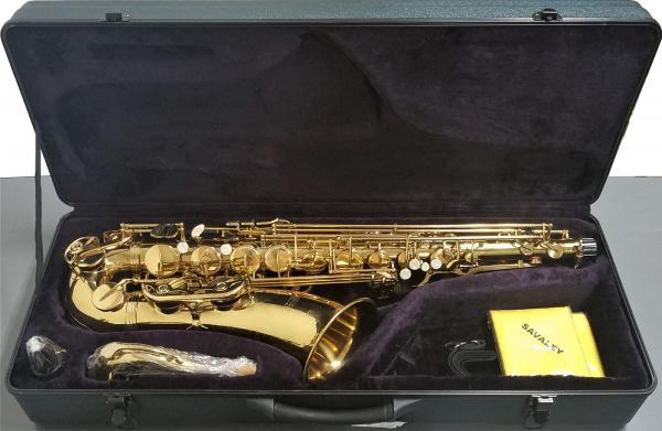 SAVALEY ( サバレイ ) テナーサックス 新品 アウトレット STN-200 ゴールド サックス 初心者 管楽器 B♭ 本体 テナーサクソフォン マウスピース ケース セット