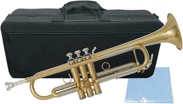 SAVALEY ( サバレイ ) トランペット 新品 アウトレット STP-200 ゴールド 初心者 管楽器 Bフラット 本体 マウスピース ケース セット B♭ trumpet 金管楽器