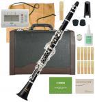 MAXTONE ( マックストーン ) 木製 クラリネット CL-50 新品 スタンダード B♭ ベーム式 管体 エボニー 初心者 管楽器 本体 マウスピース ケース clarinet 【 CL50 セット B】