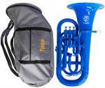 Tiger ( タイガー ) ユーフォニアム EU-02 ブルー 調整品 新品 アウトレット 4ピストン プラスチック製 B♭ 本体 管楽器 樹脂製 青色 【 EU02 blue 楽器 】