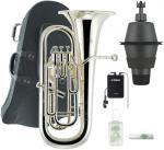 J Michael ( Jマイケル ) EU-1700S ユーフォニアム 新品 銀メッキ 4ピストン サイドアクション 管楽器 B♭ euphonium 本体  【 EU1700S セット B】