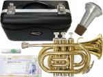 MAXTONE ( マックストーン ) TM-100L ポケットトランペット ゴールド  新品 管楽器 ミニ  トランペット B♭管 本体   pocket Trumpet Gold  【 TM100L セット A】
