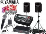 YAMAHA ( ヤマハ ) STAGEPAS600BT SAMSONワイヤレスマイクALL-IN ONEとスピーカースタンド  (K306S/ペア)