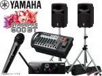 YAMAHA ( ヤマハ ) STAGEPAS600BT AKGワイヤレスマイク1本とスピーカースタンド セット  (K306S/ペア)