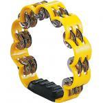 イエロー 花型 タンバリン 23cm プラスチック製 ダブルジングル パーカッション プラスチックタンバリン 黄色 yellow flower tambourine 花形 打楽器