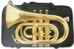 HSZ-863 ポケットトランペット 新品 管体 B♭ ゴールド ミニ トランペット 管楽器 mini pocket trumpet gold 持ちはこび ポケトラ