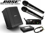 BOSE ( ボーズ ) S1 Pro + AKGワイヤレスマイク2本セット ◆ 専用充電式バッテリー付 会議室 スピーチ カラオケ