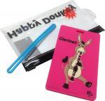 Roi ( ロイ ) アウトレット ピンク クラリネット柄 ネームタグ キャラクター ハッピードンキー ICカード入れ パスケースとしても使える シリコン製 名札