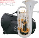 PRESON ( プレソン ) PR-3300SP 【トリガーなし】 銀メッキ仕上げ 新品 ユーフォニアム B♭ 4ピストン コンペンセイティングシステム 管楽器 管体 シルバー 一部送料追加