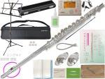 Pearl Flute ( パールフルート ) PF-665RE リングキイ フルート 新品  頭部管 銀製 ドルチェ Eメカニズム オフセット Dolce flute PF665RE ドレミの楽譜で吹く セット