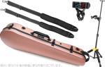 Carbon Mac ( カーボンマック ) CFA-2 サテン ビオラケース S- PKG ピンクゴールド リュックタイプ ハードケース viola hard cases satin pink gold  DS571BB AW-LT100V セット B