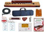 SUZUKI ( スズキ ) 桂 (かつら) TAS-11 教本+チューナー+ミュート+ピックケースセット 電気大正琴 桂セット3