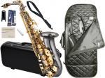 Antigua  ( アンティグア ) パワーベル BG アルトサックス アウトレット ブラック ゴールド AS-830 ケース セット alto saxophone powerbell Black nickel  北海道 沖縄 離島不可