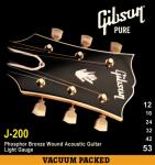 Gibson ( ギブソン ) J200 Phospher Bronze Acoustic Guitar Strings / Lights - .012 - .053 / SAG-J200L
