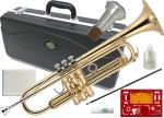 J Michael ( Jマイケル ) TR-200 トランペット 新品 ゴールド 管体 初心者 管楽器 スタンダード B♭ 本体 ラッカー 楽器 Trumpet 【 TR200 セット 】