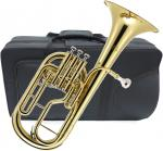 J Michael ( Jマイケル ) 送料無料 アルトホルン 3ピストン ゴールド 新品 E♭ 管体 トップアクション ケース マウスピース 管楽器 【 AH-600 アウトレット 】