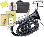 Kaerntner ( ケルントナー ) KTR33P BK ポケットトランペット ブラック 新品 ミニトランペット 管楽器 管体 黒色 Pockt Trumpet black  KTR-33P BLK セット A