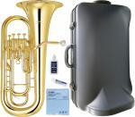 YAMAHA ( ヤマハ ) 4ピストン ユーフォニアム YEP-321 ゴールド イエローブラス ベル 本体 ケース マウスピース SL-48 セット 初心者 おすすめ 日本製 管楽器