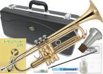 J Michael ( Jマイケル ) TR-200 トランペット 新品 初心者 セット 管楽器 管体 ゴールド B♭ スタンダード 本体 練習用 楽器 trumpet 【 TR200 SET】