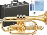 YAMAHA ( ヤマハ ) 送料無料 コルネット YCR-2330lll 新品 ゴールド イエローブラスベル CR3ベル ML 2枚取り 日本製 楽器 B♭ 管体 管楽器