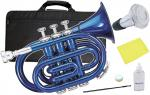 Kaerntner ( ケルントナー ) KTR33P ポケットトランペット 青色 MBL 新品 管楽器 ミニトランペット ブルー ミニ トランペット 【 KTR-33P メタリックブルー ミュート 】