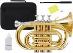 Kaerntner ( ケルントナー ) 送料無料 ポケットトランペット ゴールド KTR-33P GOLD 新品 B♭ 管体 管楽器 本体 楽器 Pockt Trumpet  【 KTR33P GD 】
