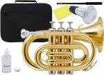 Kaerntner ( ケルントナー ) KTR33P ポケットトランペット ゴールド 新品 管楽器 ミニトランペット B♭ 管体 金色 ミニ トランペット  KTR-33P GOLD ミュート セット D